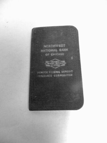 Vtg Antique Northwest National Bank Of Chicago Bank Deposit Passbook Book (A5)