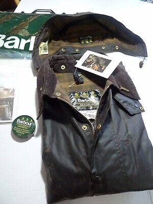 BARBOUR -A190 BEAUFORT WAX COTTON JACKET &  HOOD -NEW OLD STOCK  -MADE IN UK- 50