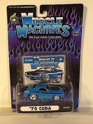 MUSCLE MACHINES 2002 Cuda 1970 PLYMOUTH Mopar BLUE Hoodscoop 89 (Mopar Hood Scoop)