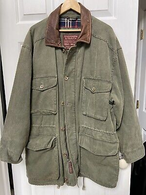 Vintage Abercrombie & Fitch Duck Hunting Coat Jacket Men's Size Large