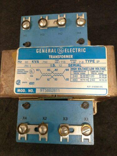 GENERAL ELECTRIC 9T58B2811 TRANSFORMER .750 KVA 1 PHASE TYPE IP