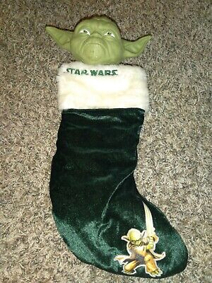 Yoda Star Wars Green Christmas Stocking Holiday Decorations Figure