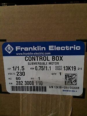 11 2 Hp Water Well  Franklin Electric Control Box  For Submersible Pumps
