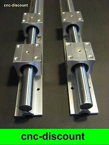 CNC Set 20x 550mm 4x Linearwagen Linearführung Linear Guide Rail  3D Fräse