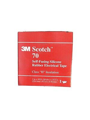 3m Scotch 70 Self Fusing Silicone Rubber Electrical Tape 1 Inch X 30 Feet