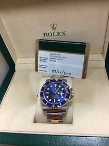 ROLEX SUBMARINER TWO TONE BLUE DIAL COMPLETE SET CERAMIC BEZEL Sydney City Inner Sydney Preview