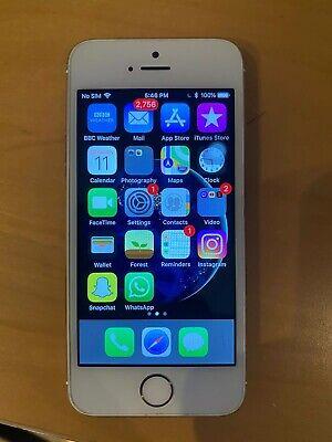 Apple iPhone 5S 16gb Silver USED Unlocked READ DESCRIPTION