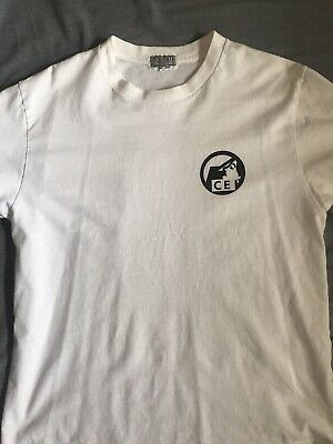 Cav Empt White T Shirt with Black Logo Medium