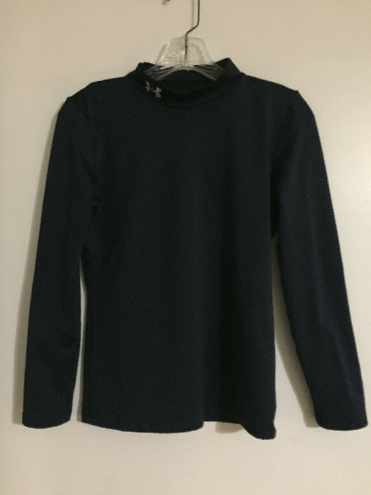 Boys Under Armour Long Sleeve Shirt-Navy YXL  - $1.99