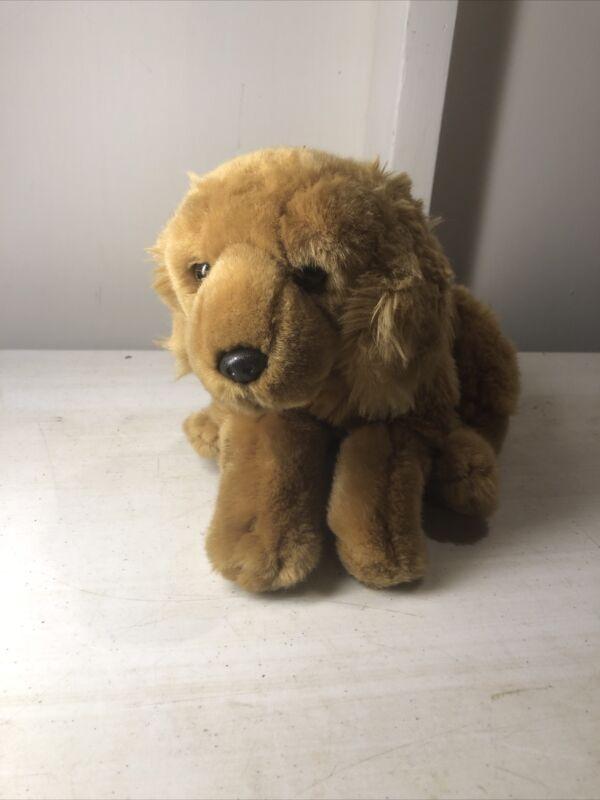 """Golden Retriever Plush Dog Animal Alley Lying Brown Stuffed Animal 16"""" Geoffrey"""