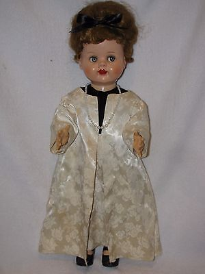 """21"""" Vintage Ideal Firty Eyed Saucy Walker Doll Dressed In A Gown"""