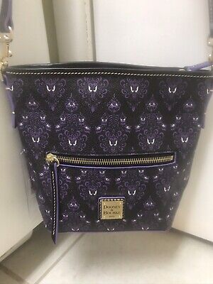 Disney Dooney & Bourke 2020 Haunted Mansion Wallpaper Crossbody Bag NWT Purple