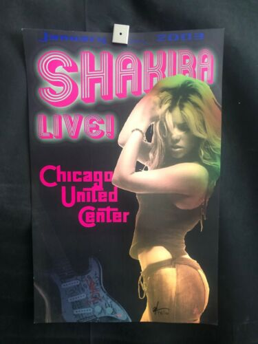 Shakira Chicago 2003 Signed Numbered Concert Poster, Sexy, Hot, Herrera