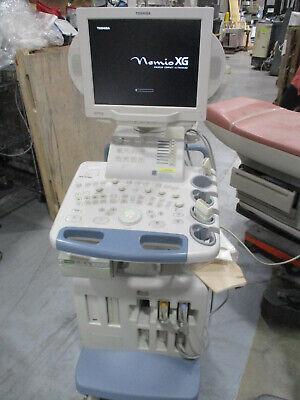 Toshiba Nemio Xg Ssa-580a Diagnostic Portable Ultrasound 2 Probes Printer