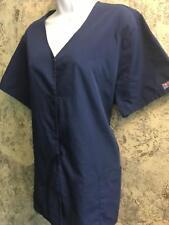 CHEROKEE 4770 NAVW short sleeve scrubs jacket coat dental ...