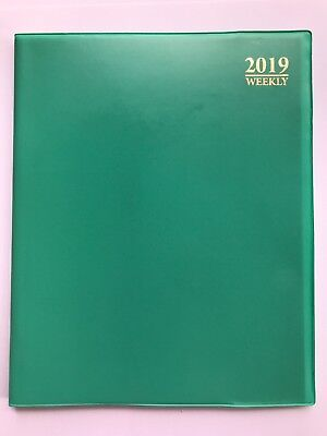 2019 Green Weekly Daily Planner Appointment Book Calender Organizer 8 X 10