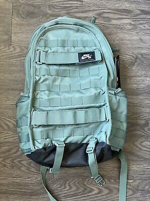 Nike SB RPM Skateboarding Backpack Bag Clay Military Green Black White