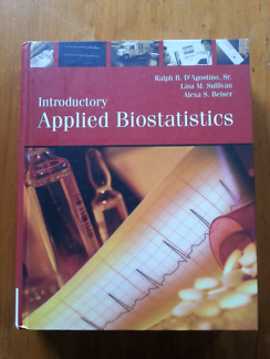 Applied Biostatistics text book with CD