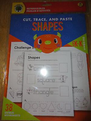 Teaching Tree Reproducibles(38pack) Cut,Trace, and Paste SHAPES( PreK-K)