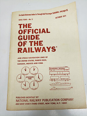 Official Guide of the Railways 1971 October