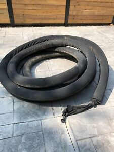 """4"""" outdoor drain pipe with filter sock weeping"""