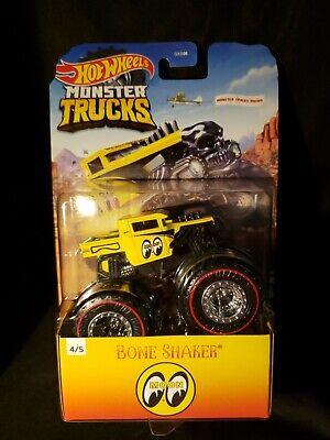 New 2020 Hot Wheels Monster Trucks Bone shaker Moon Eyes Nip O'Rielly Special