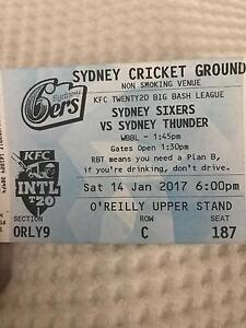 20/20 big bash tickets 14/01/2017 - good seats Gosford Gosford Area Preview