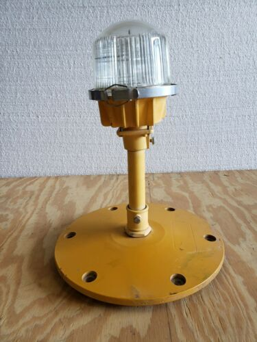 Rare Double Globe Taxiway Lamp Airport Runway Light Plane Helicopter Mancave #21