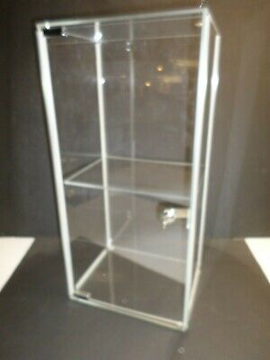 Acrylic Counter Top Store Display Cabinet W Lock And Key - Nos