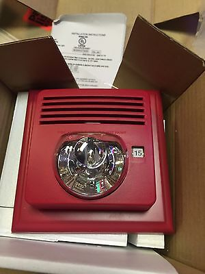 Red Fire Alarm Strobe Speaker With Select A Strobe New In Box 4650108