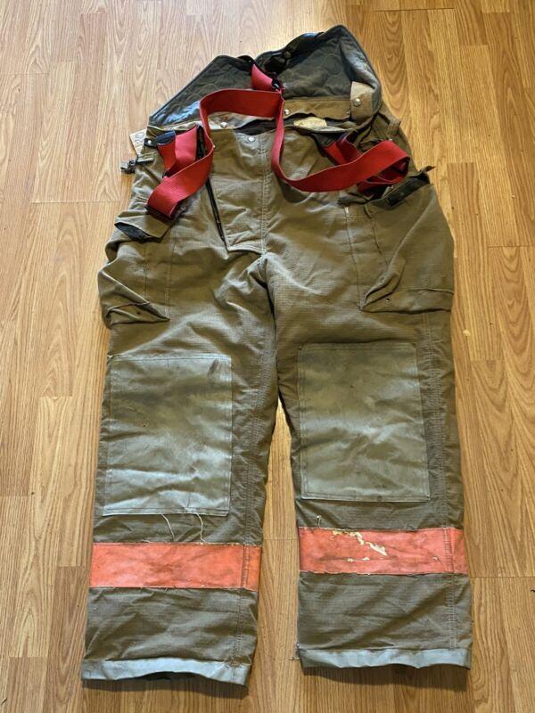 Vintage Quaker Firefighter Bunker Turnout Pants 44 Waist 30 Inseam