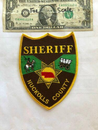 Nuckolls Nebraska Police Patch (Sheriff) Un-sewn in great shape
