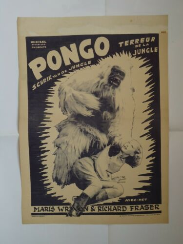 THE WHITE PONGO/MARIS WRIXON+RICHARD FRASER/UC20/ belgium poster