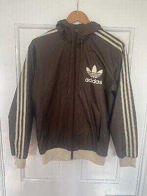 Adidas Originals Mens Jacket Windbreaker Small Brown