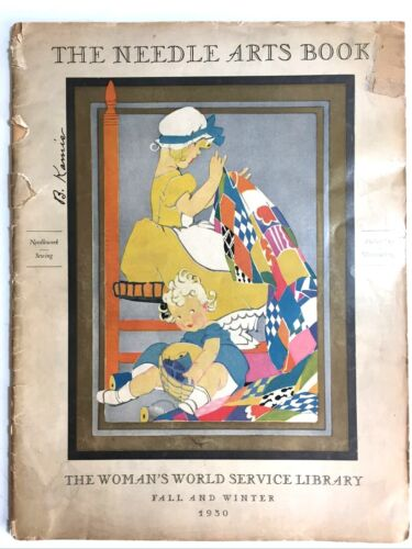 Vintage Needle Arts Book 1930 The Woman's World Service Library, Vol. 2, Sewing