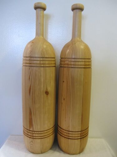 5.5 LB. PAIR OF PERSIAN MEELS, WOODEN EXERCISE PINS,INDIAN CLUBS