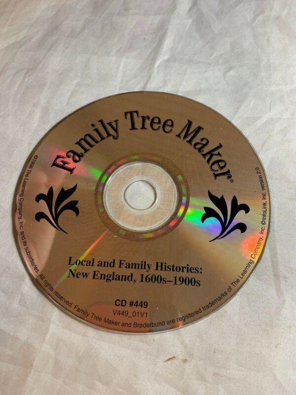 Family Tree Maker -Local and Family Histories: New England 1600s-1900s CD #449