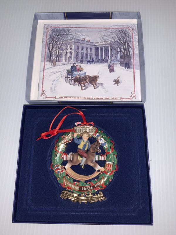 The 2003 White House Historical Association Christmas Ornament - In Original Box
