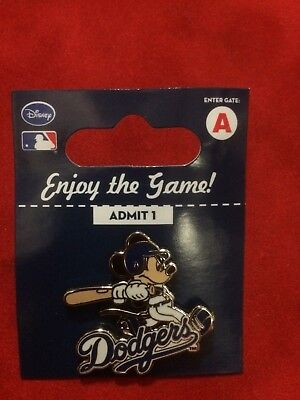 Mickey Mouse Los Angeles Dodgers Disney Pin MM with Bat - New - Factory Package