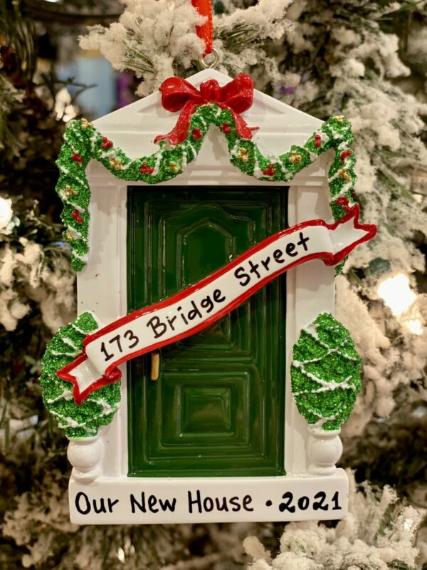 2021 PERSONALIZED CHRISTMAS TREE ORNAMENT Familys New House Our 1st Home Door