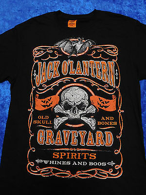 Jack O' Lantern Graveyard Spirits Whines And Boos Halloween T-Shirt S-3XL - Halloween Graveyards