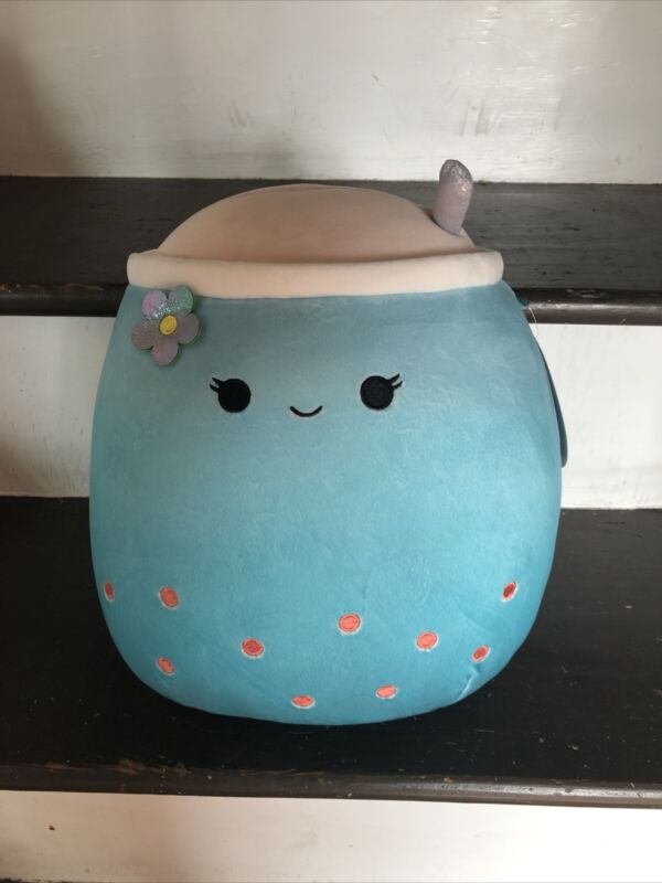 """Jakarria Blue Boba Drink Squishmallow Plush 11"""" NWT RARE Sold Out Blue Target 🔥"""