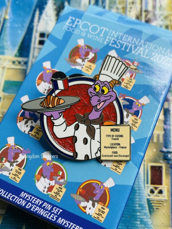 Disney 2021 Food And Wine Festival Figment France Pavilion Mystery LR Pin