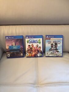 PS 4 Games- Cities Skylines, Tropico 5, Sims 4
