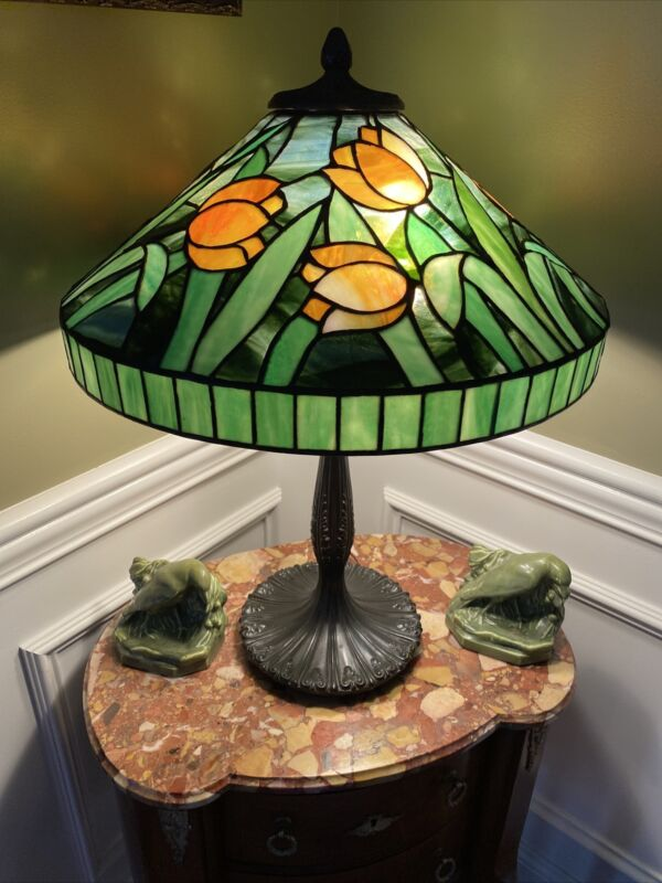 J A Whaley Art And Crafts Period Lamp, Tiffany, Handel, Duffner And B&H Era