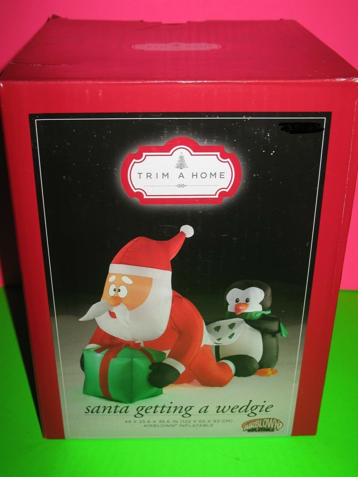 """2"" Christmas Santa Getting A Wedgie 4' Airblown Yard Inflatable Funny Gemmy"