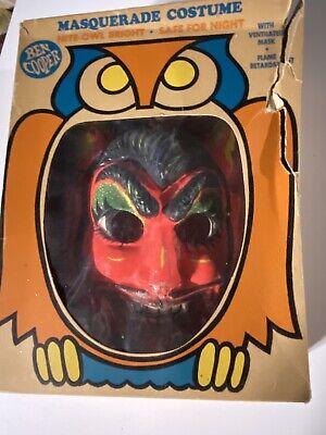 Vintage Ben Cooper Spook Town Devil Halloween Mask In Box
