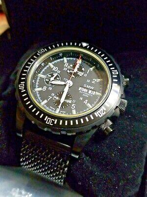SMW Swiss Military Watch AG Chronograph Valjoux 7750 Automatic Milanese Bracelet