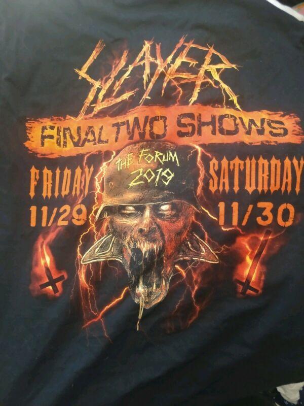 SLAYER T Shirt Large The Final Campaign Los Angeles LA FORUM FINAL 2 SHOWS
