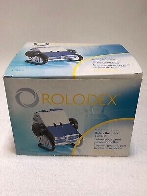 Rolodex Open Rotary Business Card File 200 Card Office Home Black